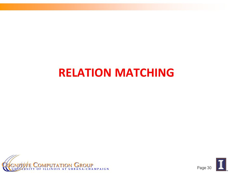 RELATION MATCHING Page 30