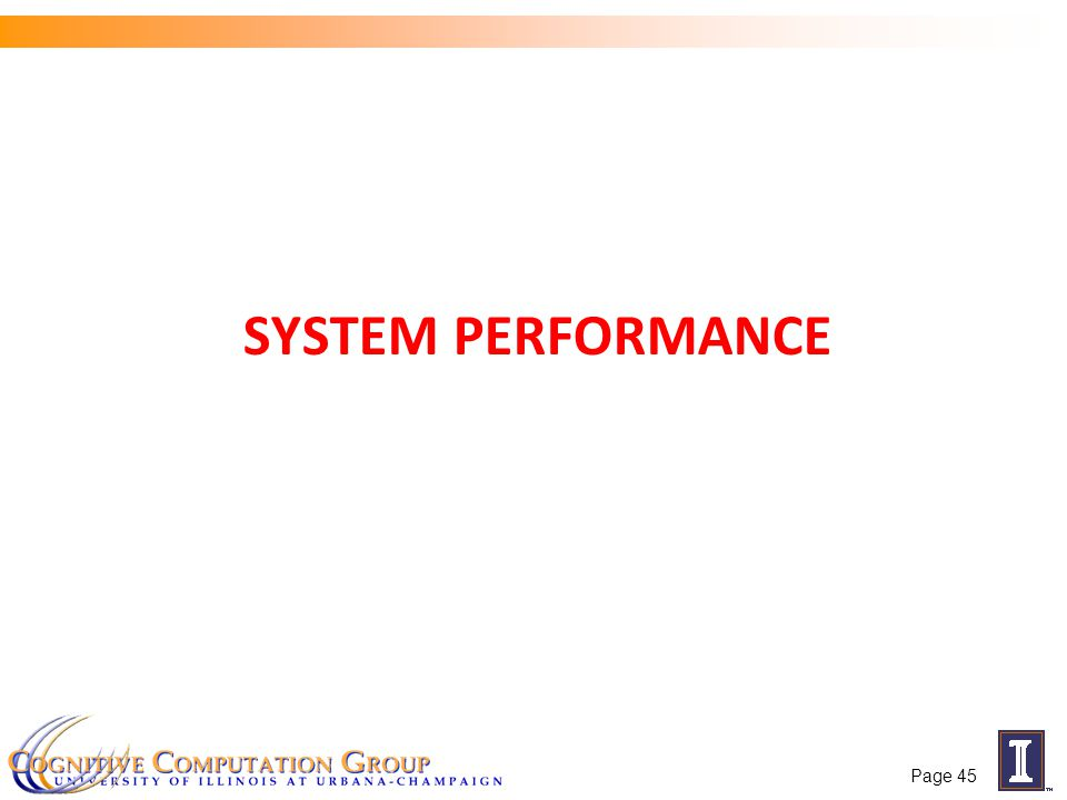 SYSTEM PERFORMANCE Page 45