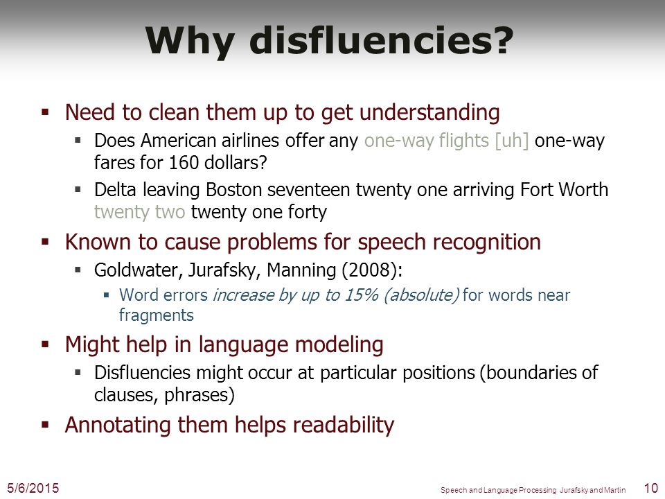 Why Disfluencies.