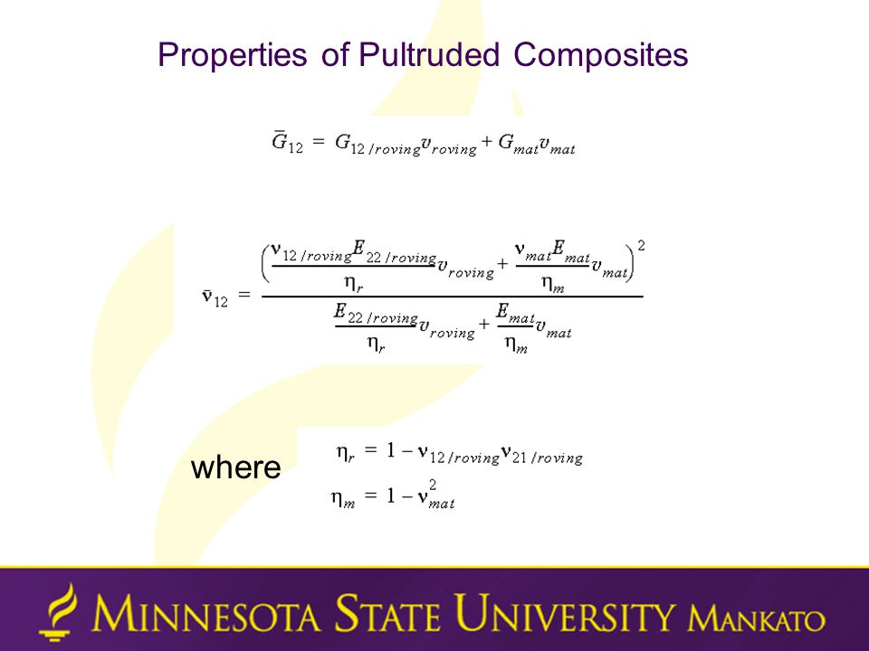 Properties of Pultruded Composites where