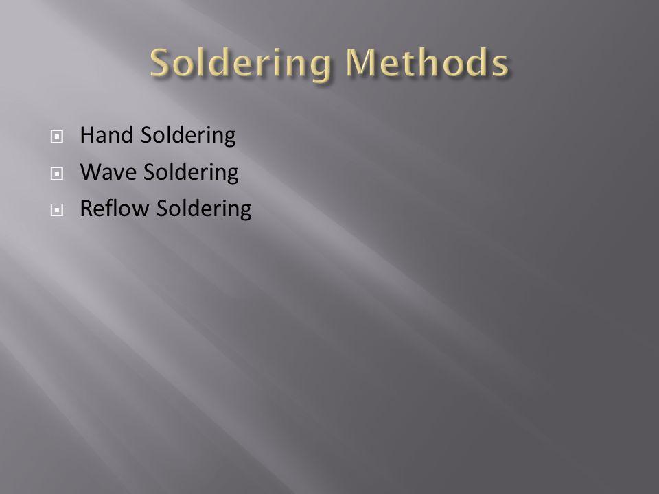  Hand Soldering  Wave Soldering  Reflow Soldering