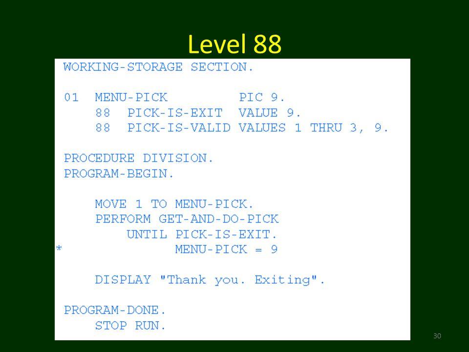 Level 88 30