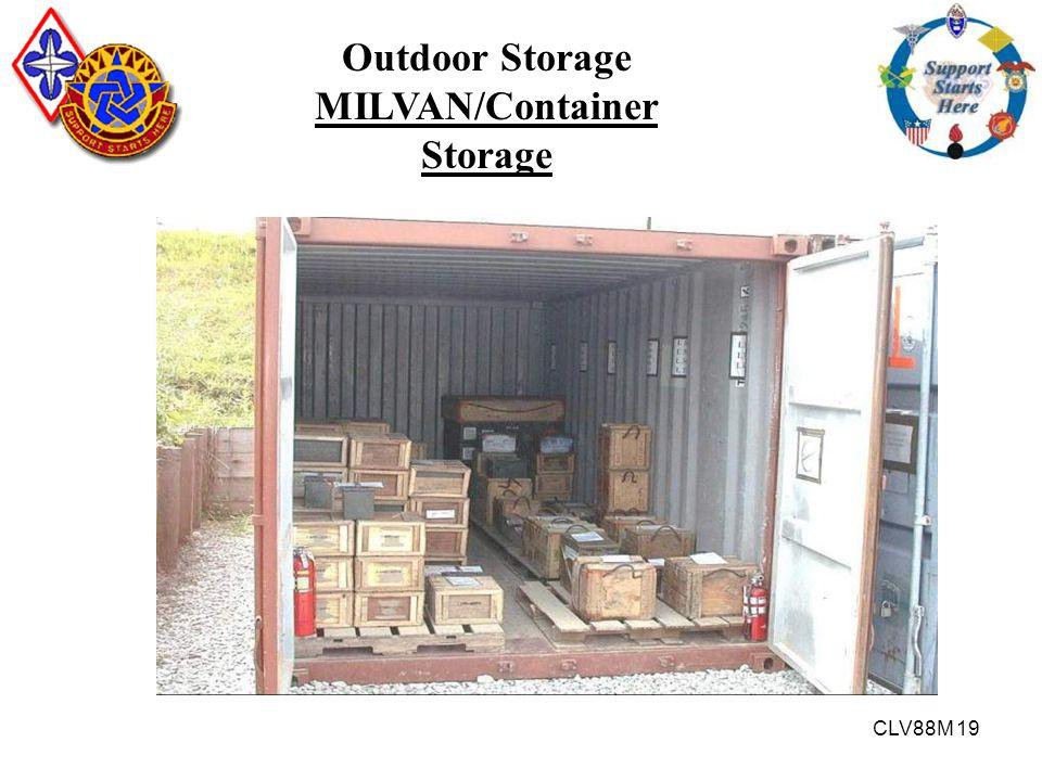 CLV88M 19 Outdoor Storage MILVAN/Container Storage