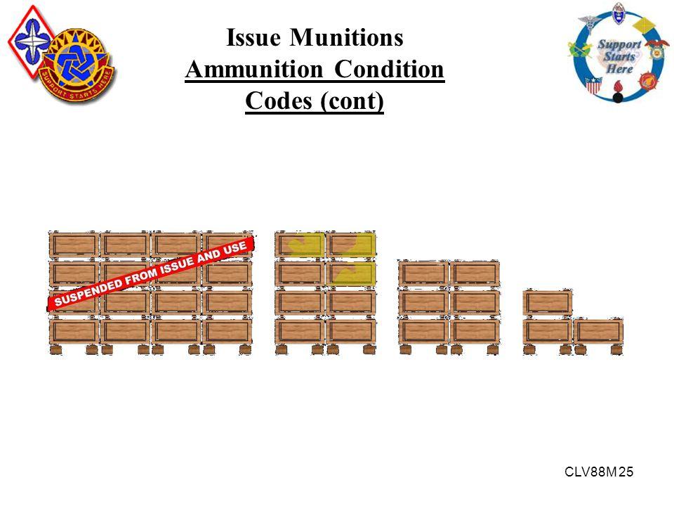 CLV88M 25 Issue Munitions Ammunition Condition Codes (cont)