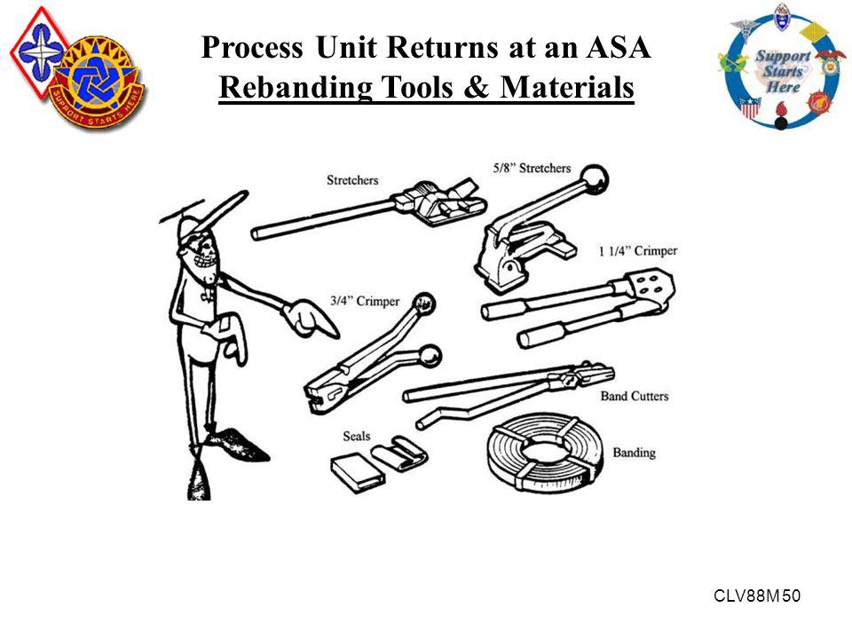 CLV88M 50 Process Unit Returns at an ASA Rebanding Tools & Materials