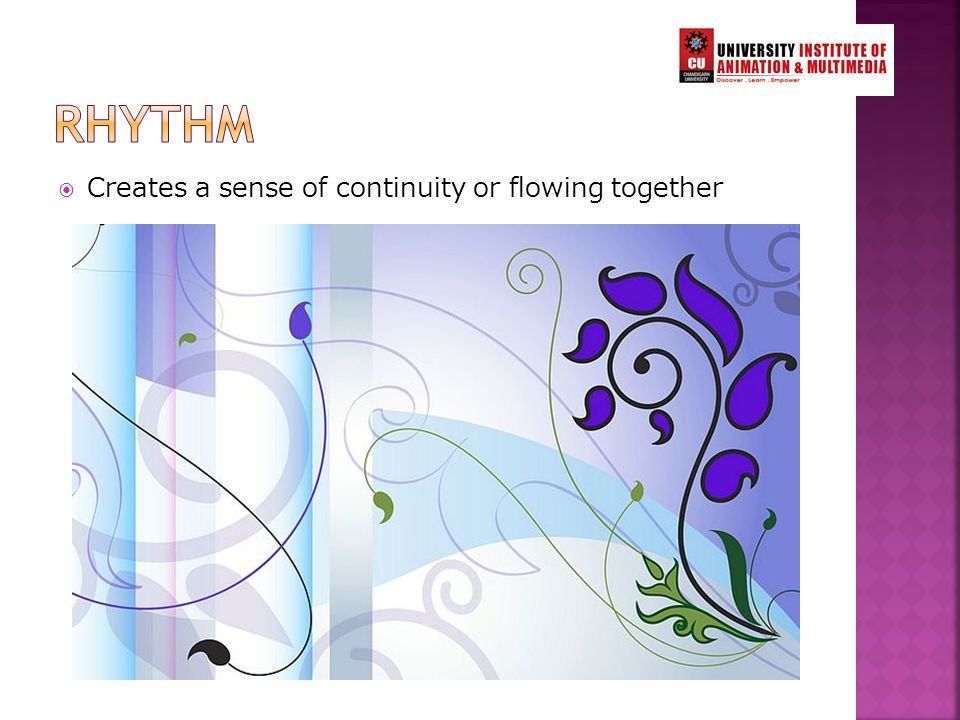  Creates a sense of continuity or flowing together