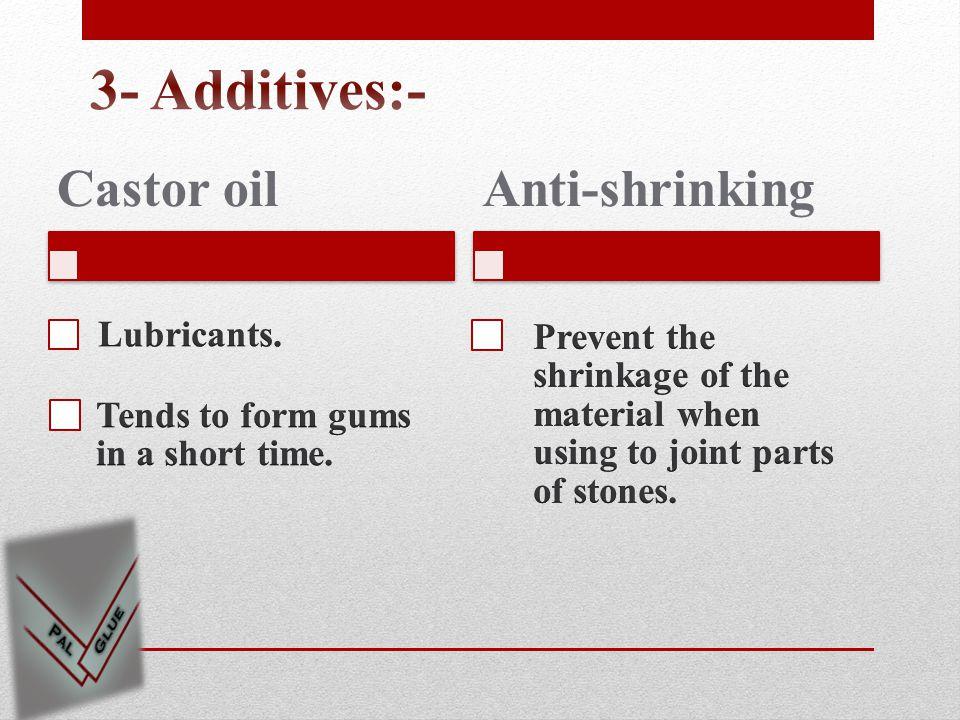 Castor oilAnti-shrinking