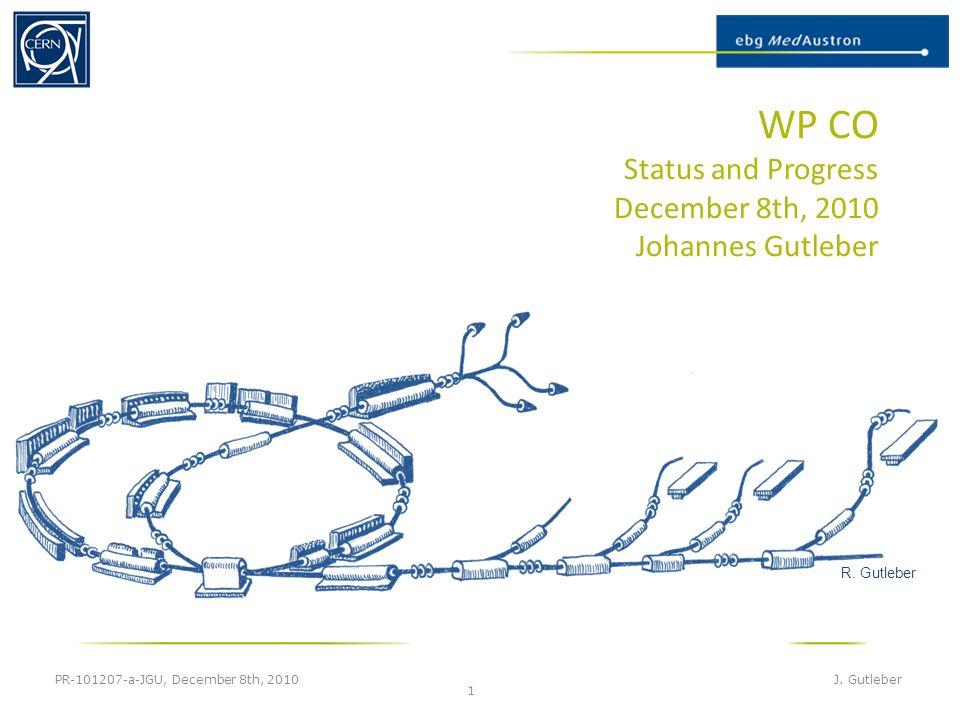 WP CO Status and Progress December 8th, 2010 Johannes Gutleber PR-101207-a-JGU, December 8th, 2010 J.