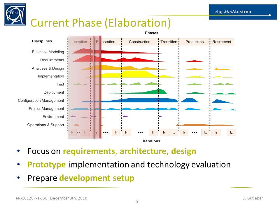 Current Phase (Elaboration) PR-101207-a-JGU, December 8th, 2010 J.