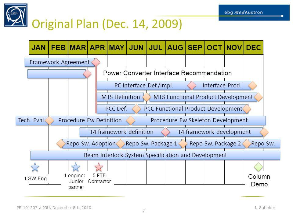 Original Plan (Dec. 14, 2009) PR-101207-a-JGU, December 8th, 2010 J.
