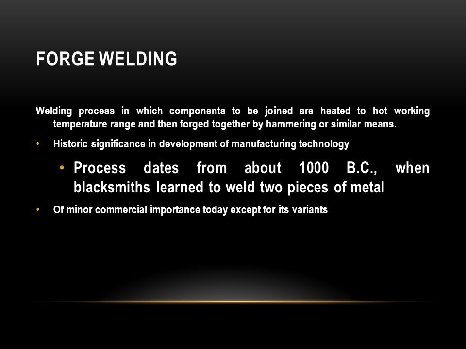 FRICTION WELDING (FRW) SSW process in which coalescence is achieved by frictional heat combined with pressure When properly carried out, no melting occurs at faying surfaces No filler metal, flux, or shielding gases normally used Process yields a narrow HAZ Can be used to join dissimilar metals Widely used commercial process, amenable to automation and mass production