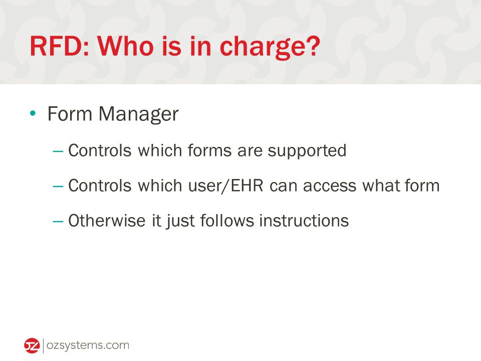 RFD: Who is in charge.
