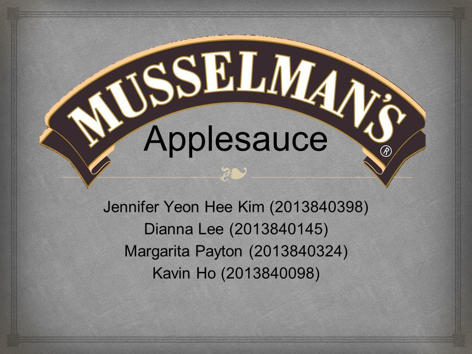 ❧ Owned by Knouse Foods Produces canned fruit and vegetables One of the leading applesauce brands in America Motto: Quality You Can Taste (2) 7 operating plants 5 in South Central Pennsylvania, Michigan, West Virginia Background