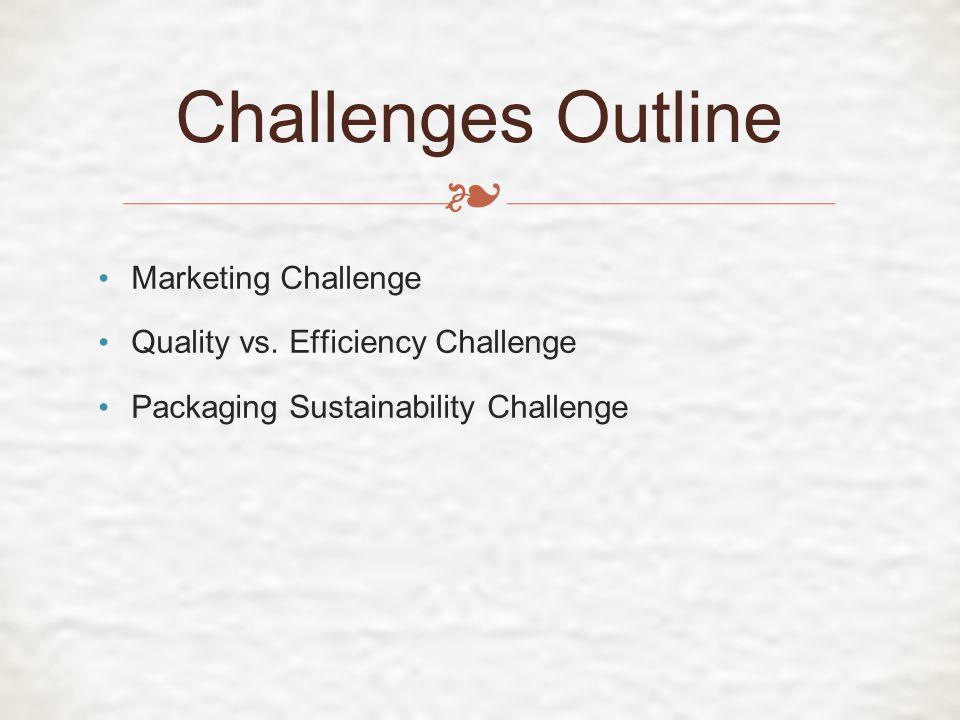 ❧ Marketing Challenge Quality vs.