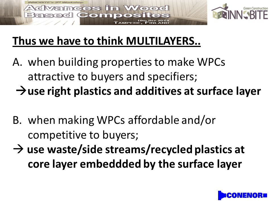 Thus we have to think MULTILAYERS..