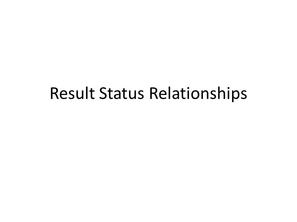 Result Status Relationships