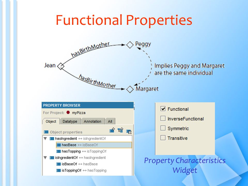 Functional Properties Property Characteristics Widget