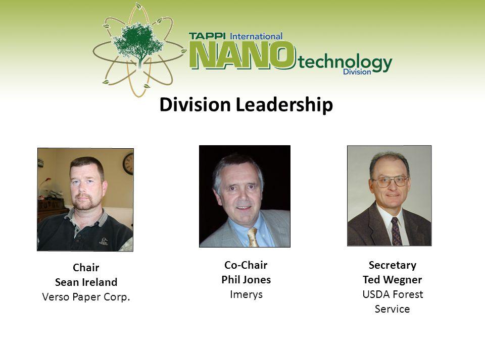 Division Leadership Chair Sean Ireland Verso Paper Corp.