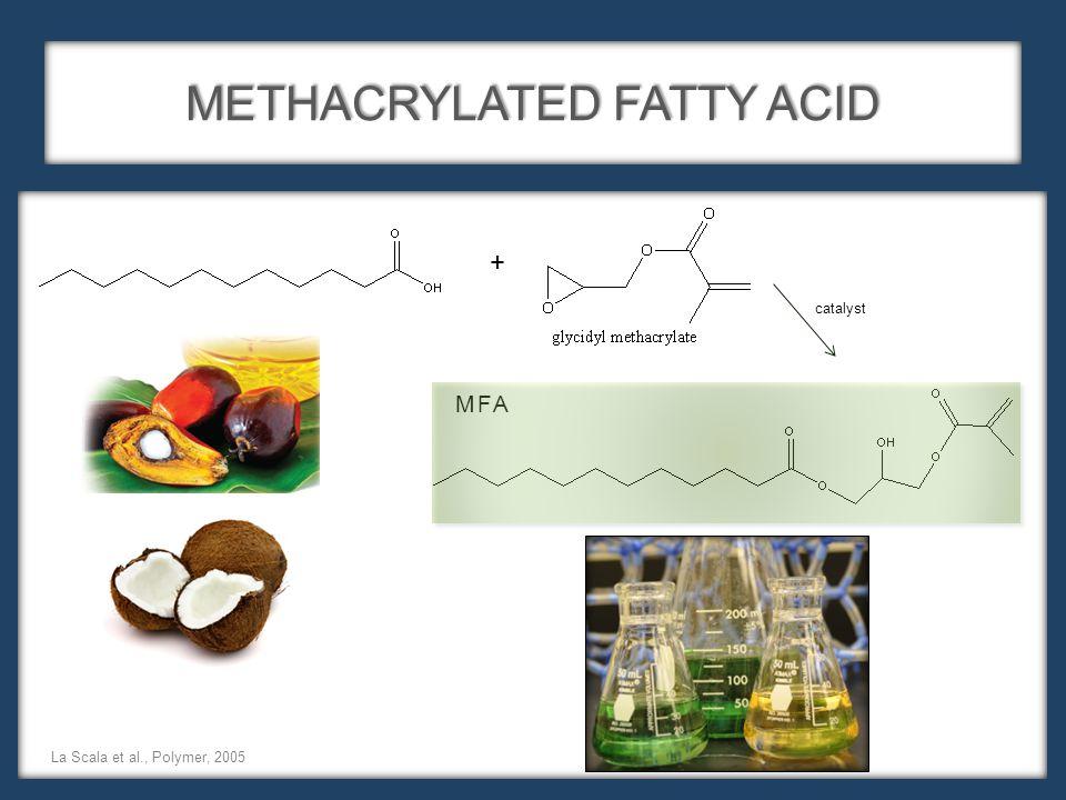 METHACRYLATED FATTY ACID MFA La Scala et al., Polymer, 2005 + catalyst
