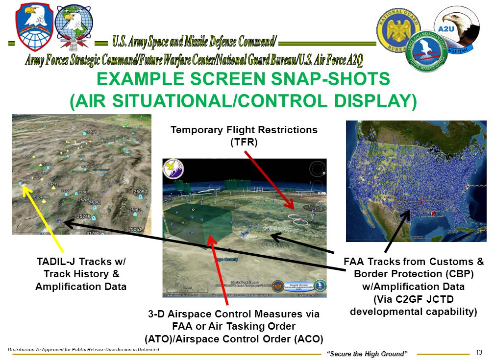 """13 """"Secure the High Ground"""" EXAMPLE SCREEN SNAP-SHOTS (AIR SITUATIONAL/CONTROL DISPLAY) FAA Tracks from Customs & Border Protection (CBP) w/Amplificat"""