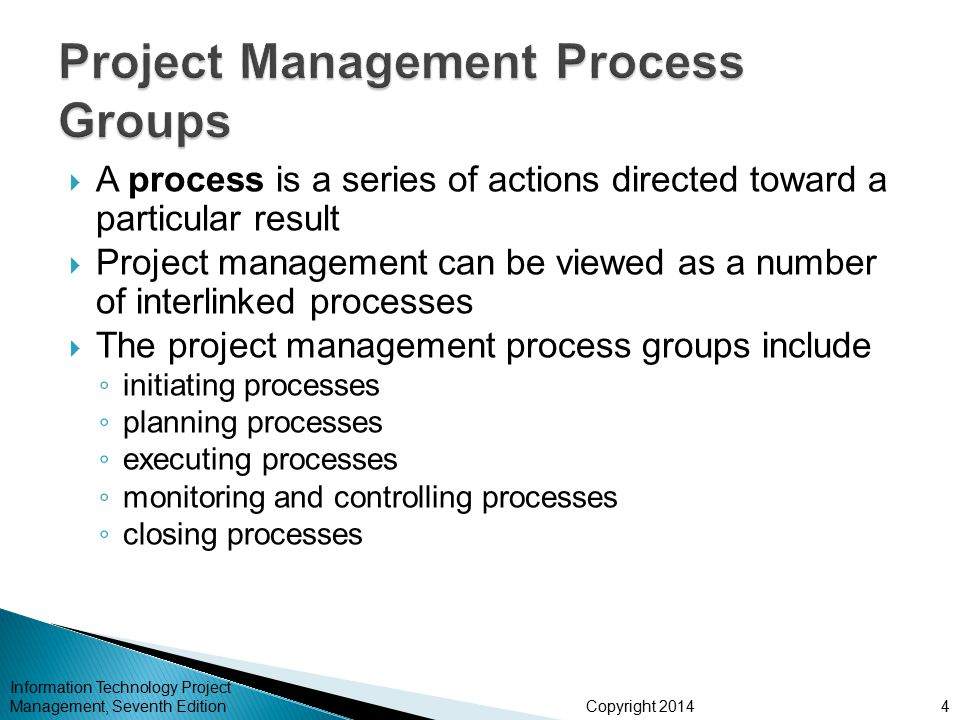 Copyright 20145 Information Technology Project Management, Seventh Edition