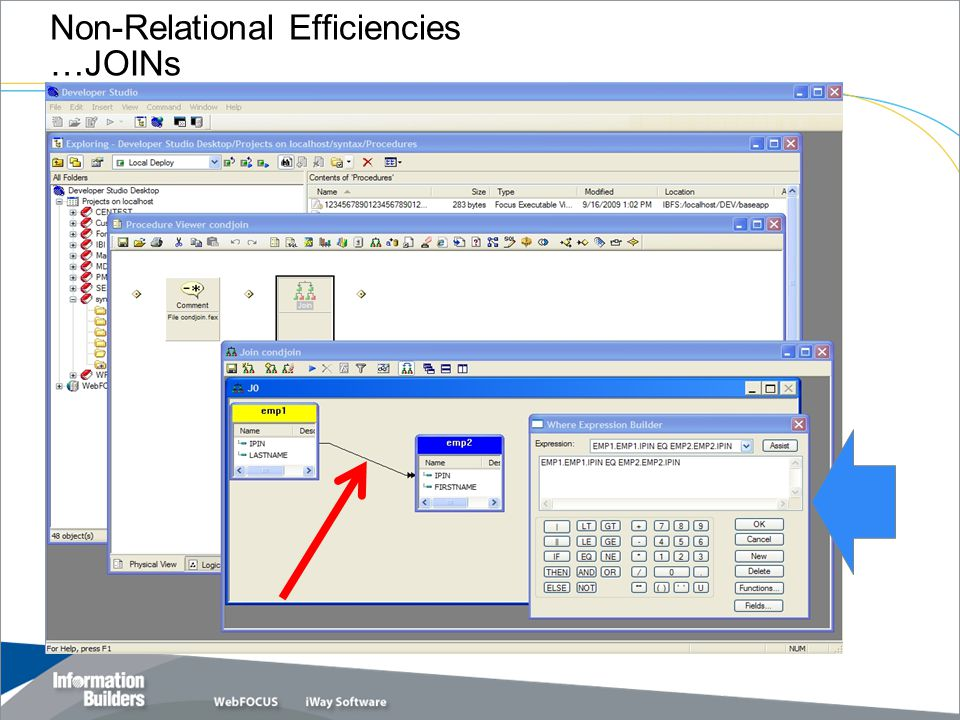 Copyright 2007, Information Builders. Slide 26 Non-Relational Efficiencies …JOINs