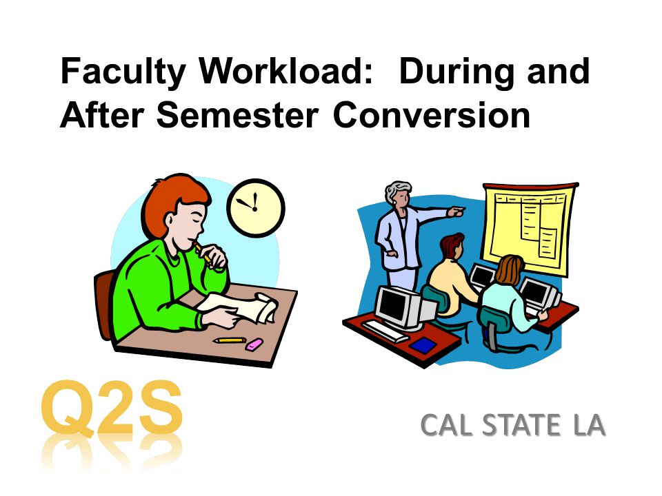 Faculty Workload: During and After Semester Conversion CAL STATE LA