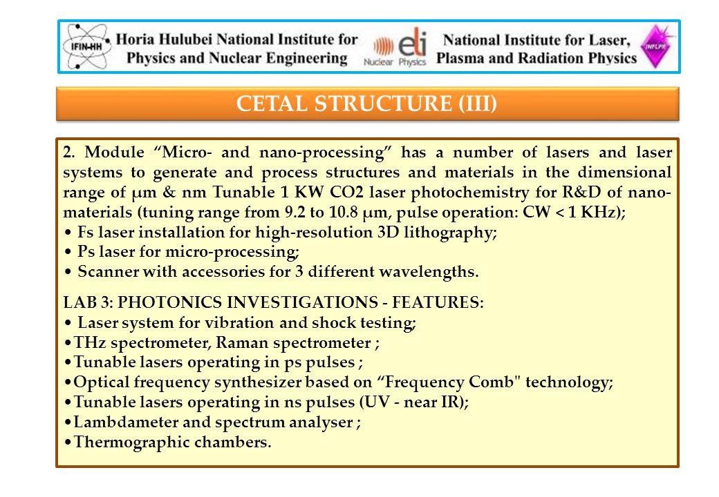 CETAL STRUCTURE (III) 2.