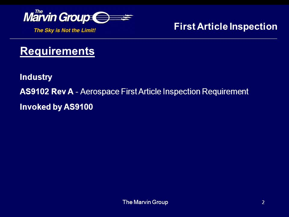 """1 First Article Inspection Report """"FAI"""""""
