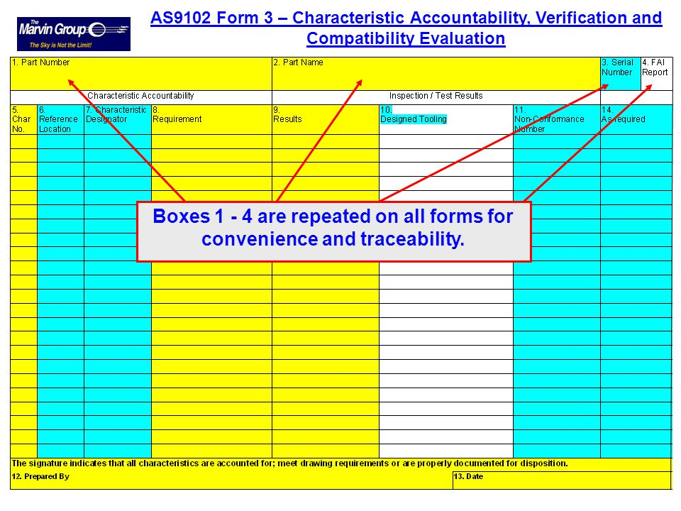 Box 11. Reference the Functional Test procedure as stated on the drawing. Box 12. Reference the Functional Test report. Box 13. Comments – As applicab