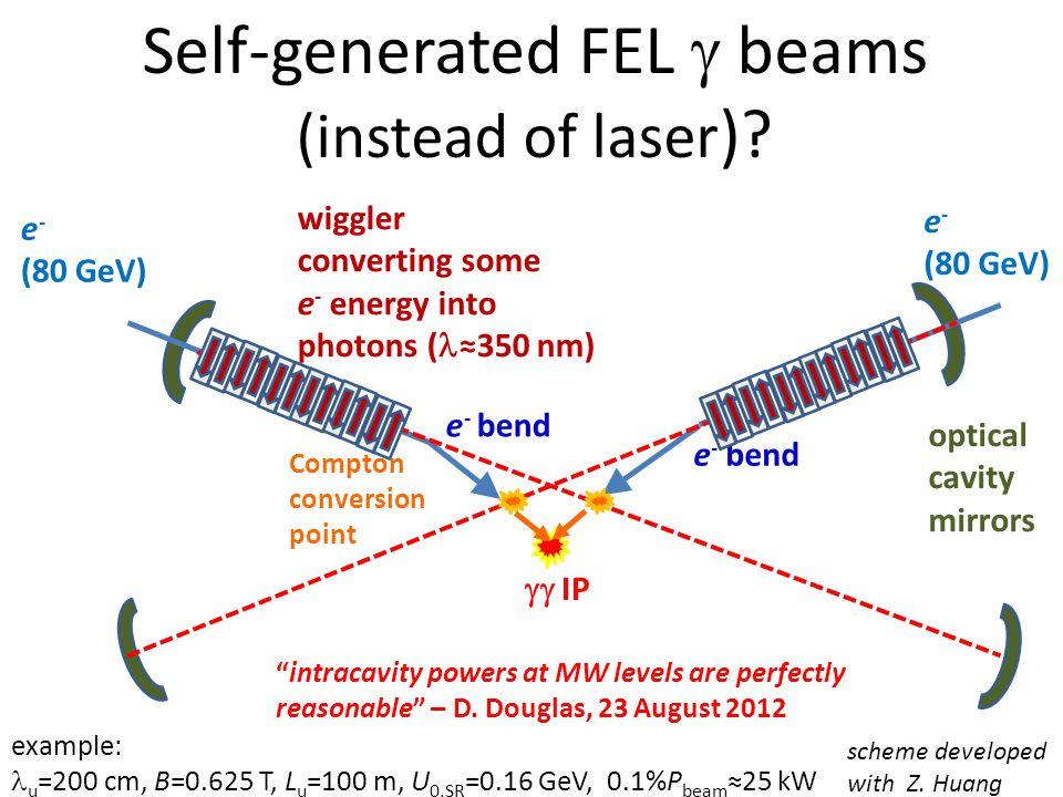 Self-generated FEL  beams (instead of laser ).