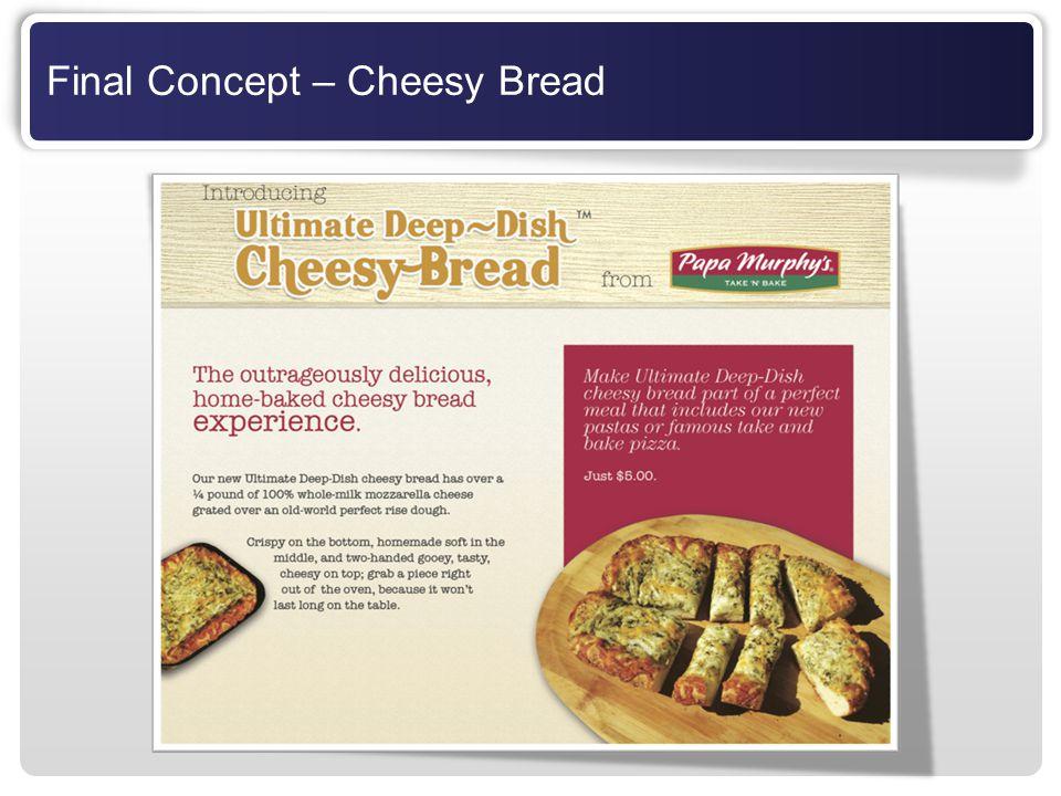 Final Concept – Cheesy Bread