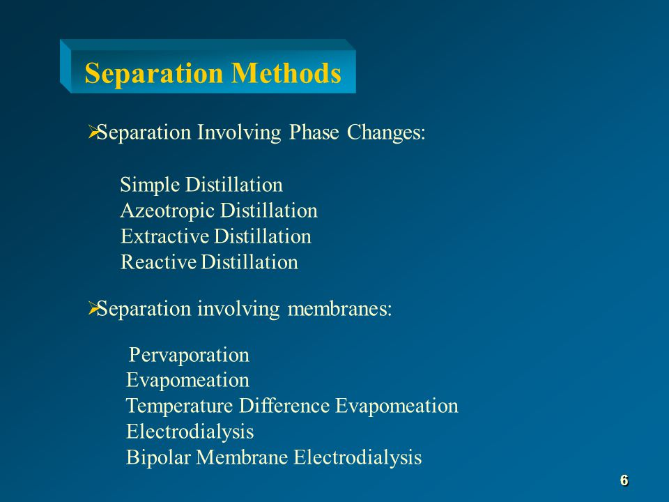 Simple Distillation  Physical separation process based on differences in volatilities 7