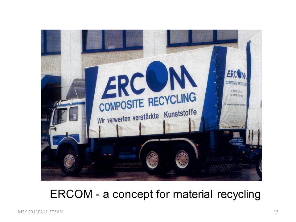 13 ERCOM - a concept for material recycling MSK 20110211 ETEAM