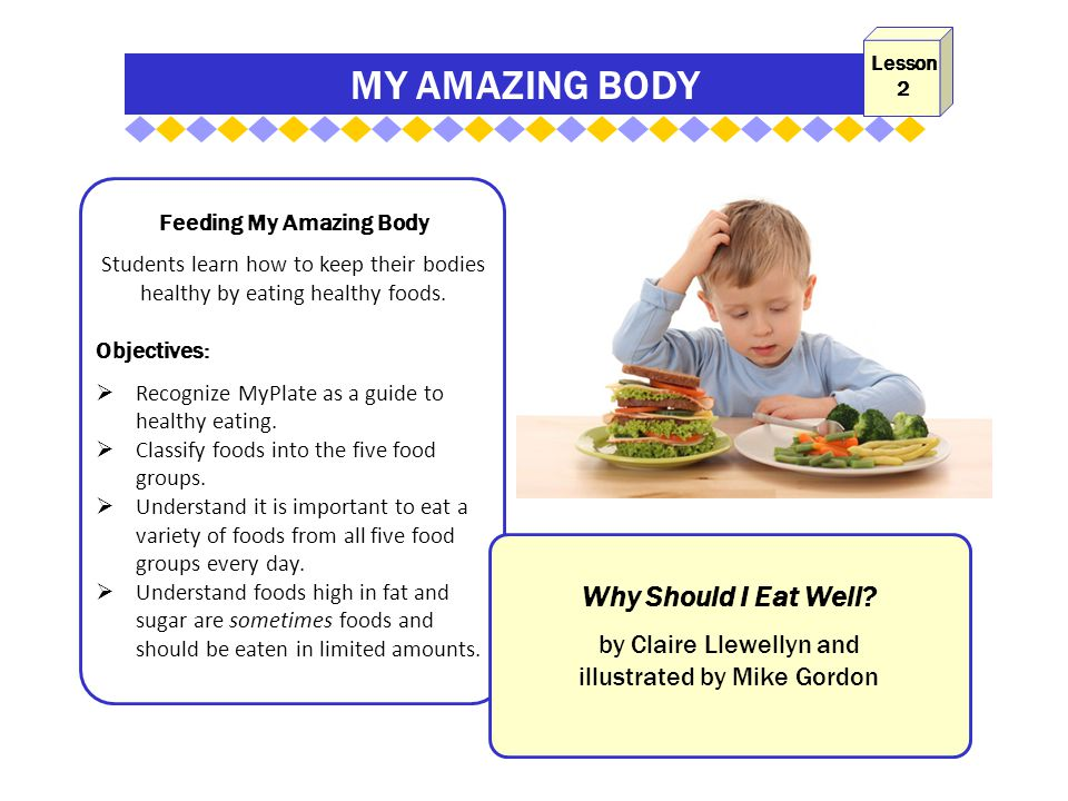 MY AMAZING BODY Feeding My Amazing Body Students learn how to keep their bodies healthy by eating healthy foods.
