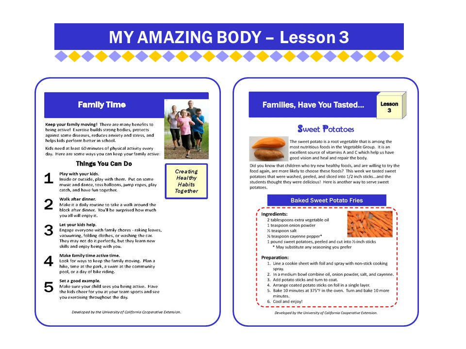 MY AMAZING BODY – Lesson 3