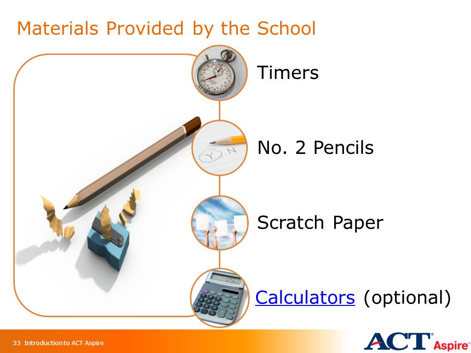 Materials Provided by the School Other Materials Timers No.