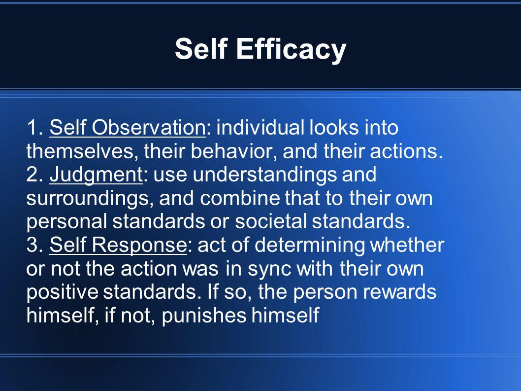 Self Efficacy 1.