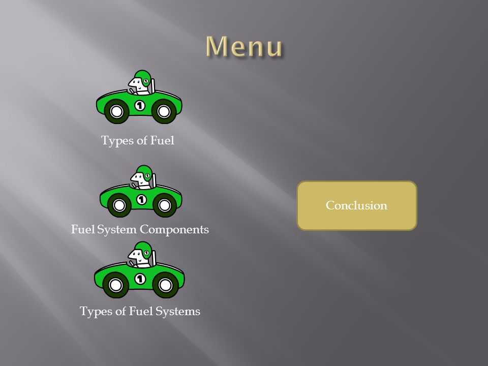 Conclusion Types of Fuel Fuel System Components Types of Fuel Systems