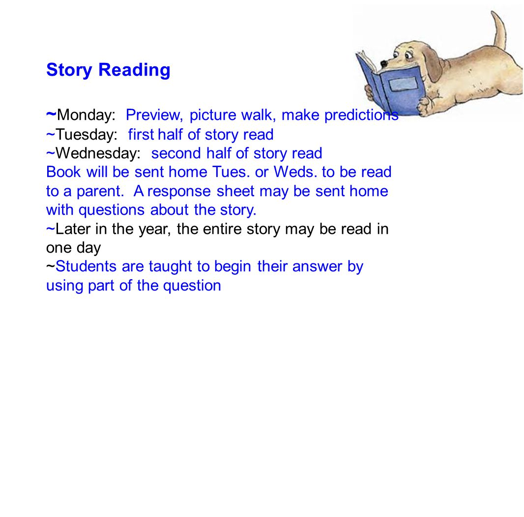 Story Reading continued.......W hile reading, we discuss......