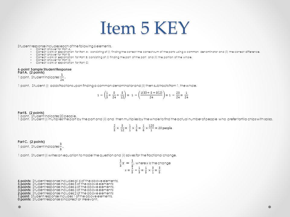 Item 5 KEY