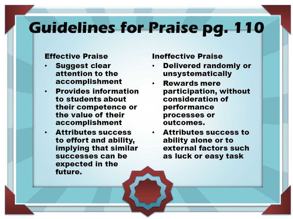 Guidelines for Praise pg.