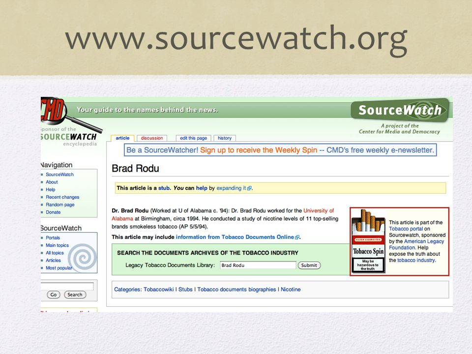 www.sourcewatch.org