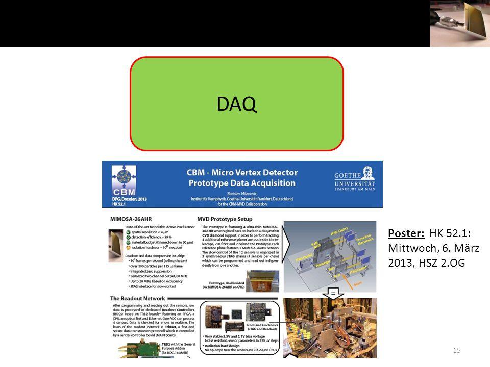 15 DAQ Poster: HK 52.1: Mittwoch, 6. März 2013, HSZ 2.OG