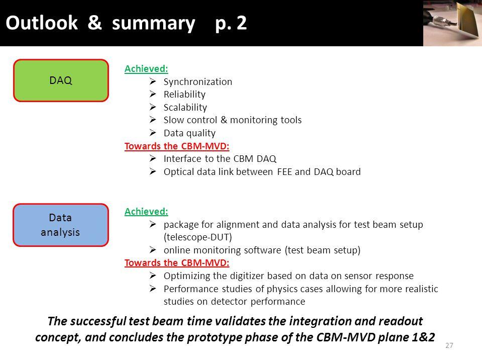 Outlook & summary p.