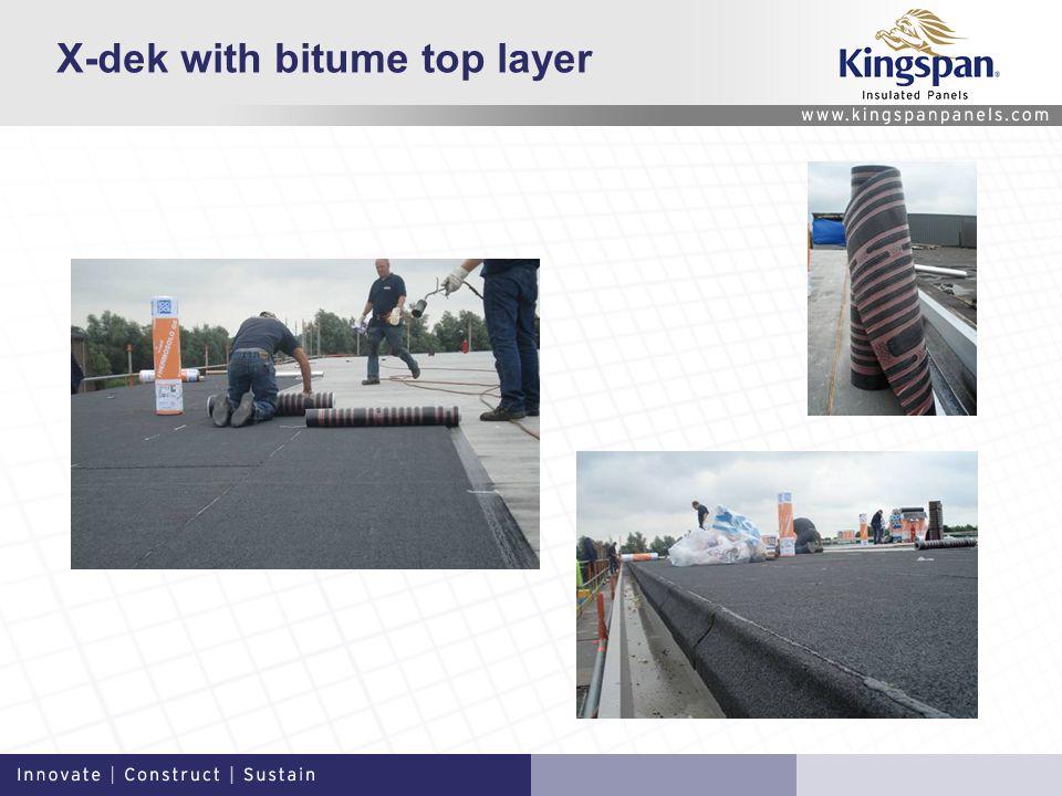 X-dek with bitume top layer