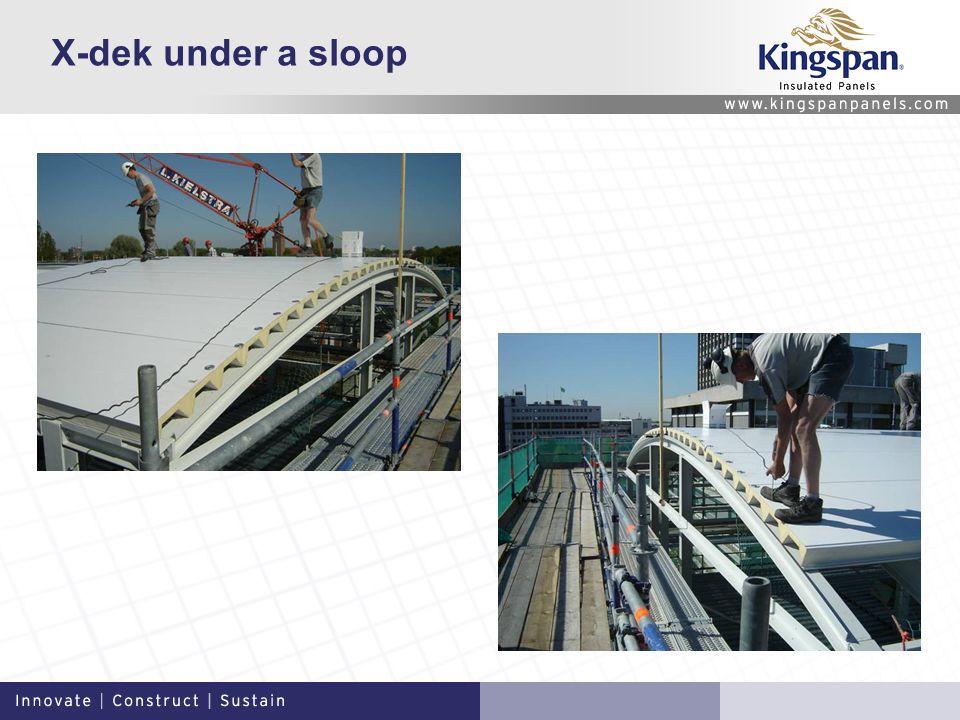 X-dek under a sloop
