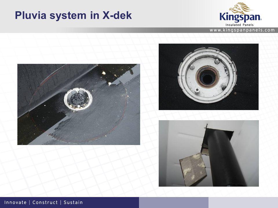 Pluvia system in X-dek