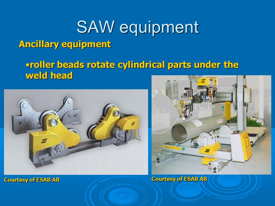 SAW equipment Ancillary equipment roller beads rotate cylindrical parts under the weld headroller beads rotate cylindrical parts under the weld head C