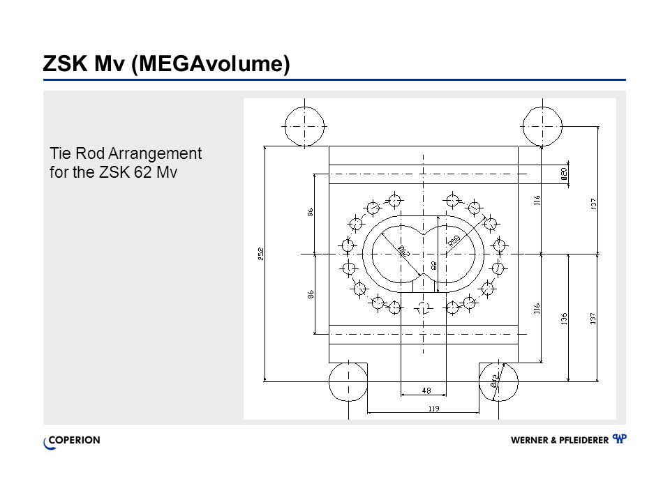 Tie Rod Arrangement for the ZSK 62 Mv